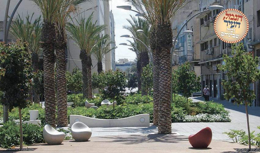 קמפוס הנמל, כיכר הסטודנטים (צילום: ברקן-אלחייני אדריכלות נוף)