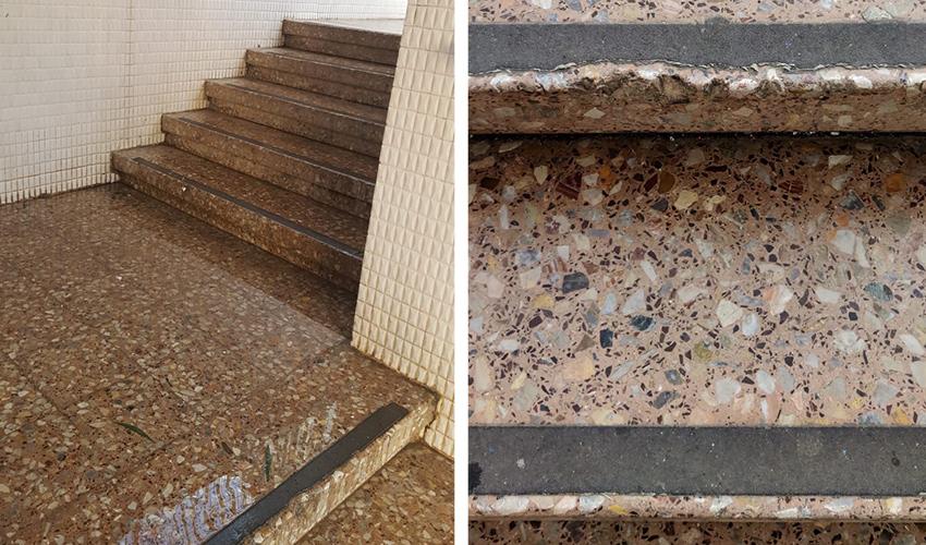 המדרגות הרטובות בבית הספר נופים