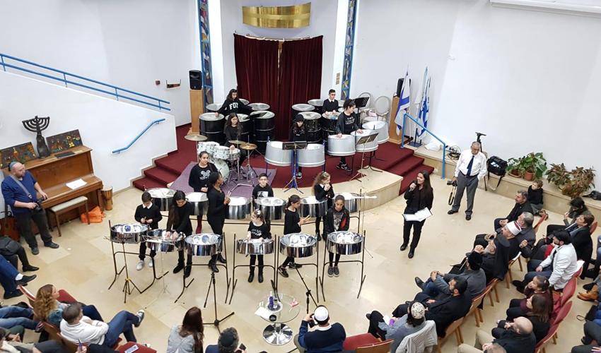 מופע תופי השלום (צילום: מרכז החינוך ליאו באק)