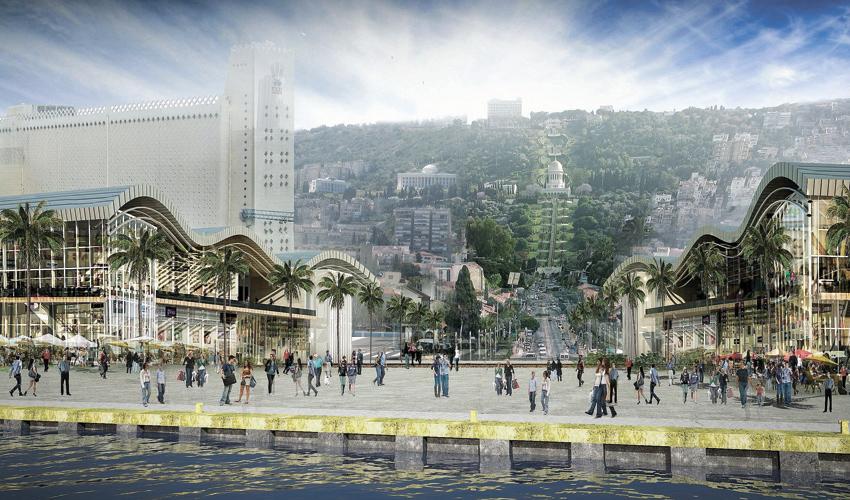 חזית הים העירונית (הדמיה משרד אמיר מן-עמי שנער אדריכלים)
