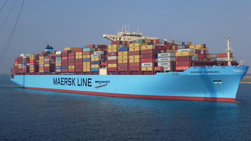 """האונייה """"Maersk Hamburg"""" (צילום: יאן וו. מונסטר)"""