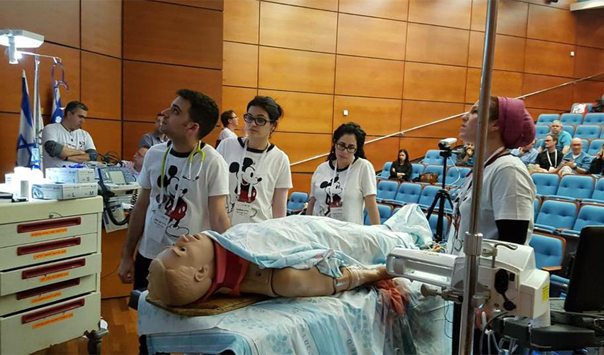 """צוות מלר""""ד ילדים של המרכז הרפואי כרמל בתחרות (צילום: אלי דדון)"""
