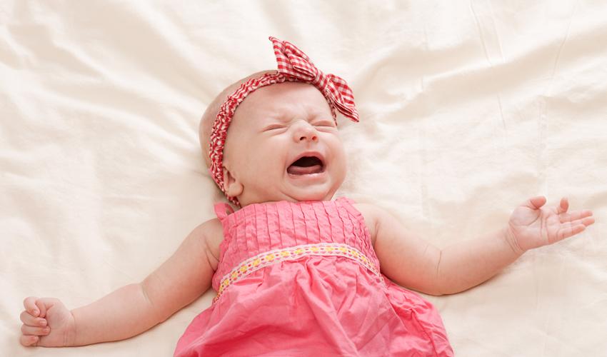 תינוקת בוכה (צילום: א.ס.א.פ קריאייטיב/INGIMAGE)