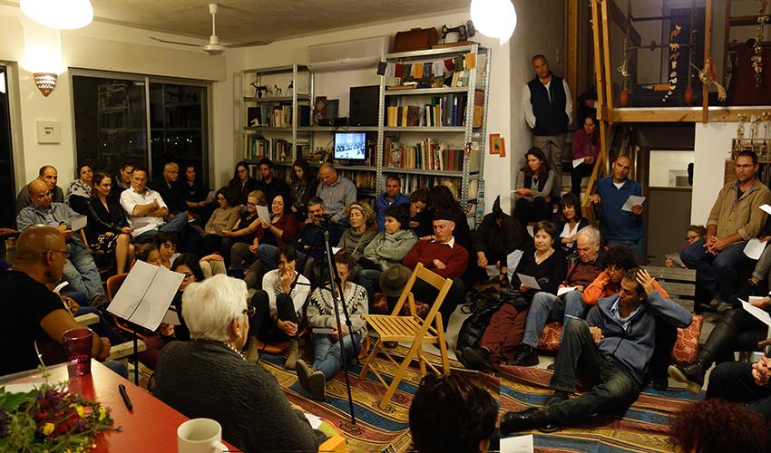 """מפגש """"זיכרון בסלון"""" בשנה שעברה (צילום: ליאורה טל פוגל)"""