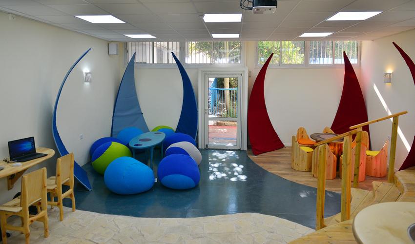 הכיתה החדשנית בבית הספר טשרניחובסקי (צילום: עיריית חיפה)