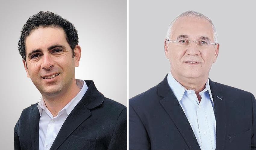 אביהו האן ושי אבוחצירה. מחלוקת על רקע הבחירות לכנסת (צילום: מירב שדה)
