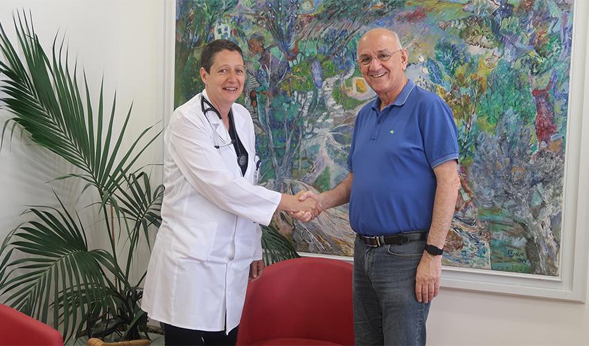 """ד""""ר אמנון רופא וד""""ר עידית דוברצקי-מרי (צילום: מחלקת השיווק של המרכז הרפואי בני ציון)"""