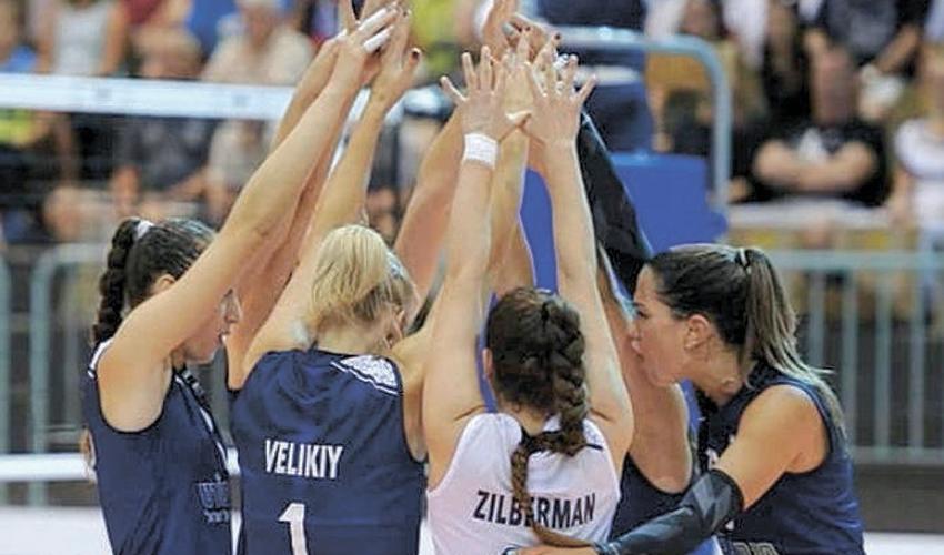 נבחרת ישראל בכדורעף. תיגע בזהב? (צילום: דיוויד סילברמן)