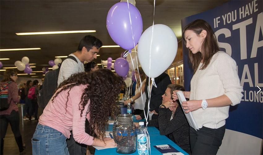יריד תעסוקה באוניברסיטת חיפה (צילום: המרכז לפיתוח קריירה)