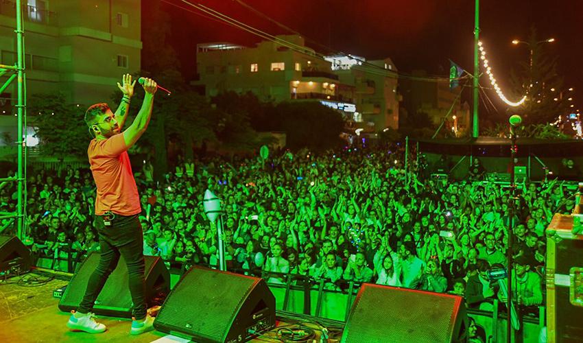 מופע עצמאות בחיפה (צילום: דוברות עיריית חיפה)