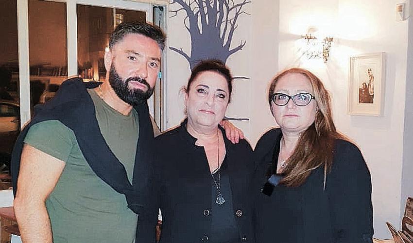 איציק כרסנטי עם רינה דהן ומרינה לויש