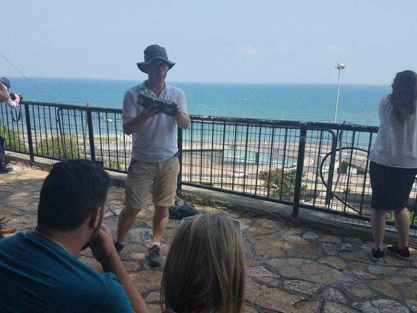 סיור בחיפה של ארגון StandWithUs (צילום: ארגון StandWithUs)