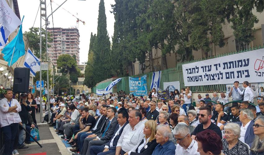 טקס יום השואה בעמותת יד עזר לחבר (צילום: אלה אהרונוב)