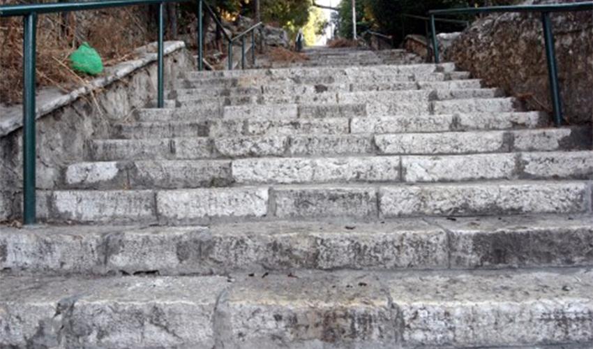 מדרגות שפינוזה בהדר (צילום: גוסטבו הוכמן)
