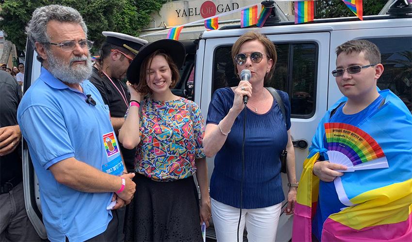 ראש העיר עינת קליש רותם מזניקה את מצעד הגאווה (חגית הורנשטיין)