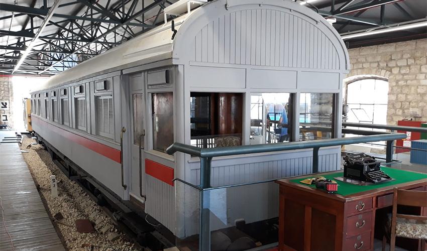קרון הפאר המשוחזר (צילום: מוזיאון רכבת ישראל)
