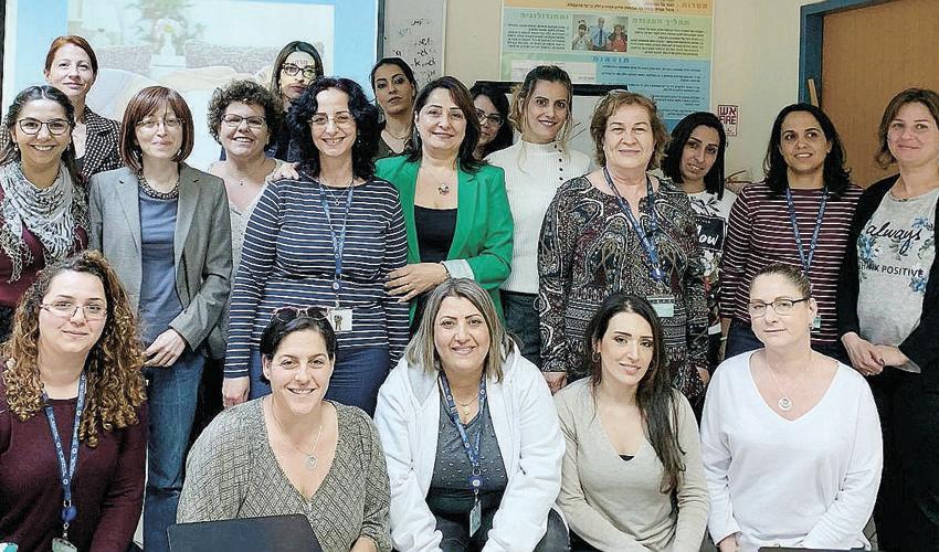 משתתפות קורס הליווי לנשים בהיריון בר סיכון (צילום: דוברות שירותי בריאות כללית)