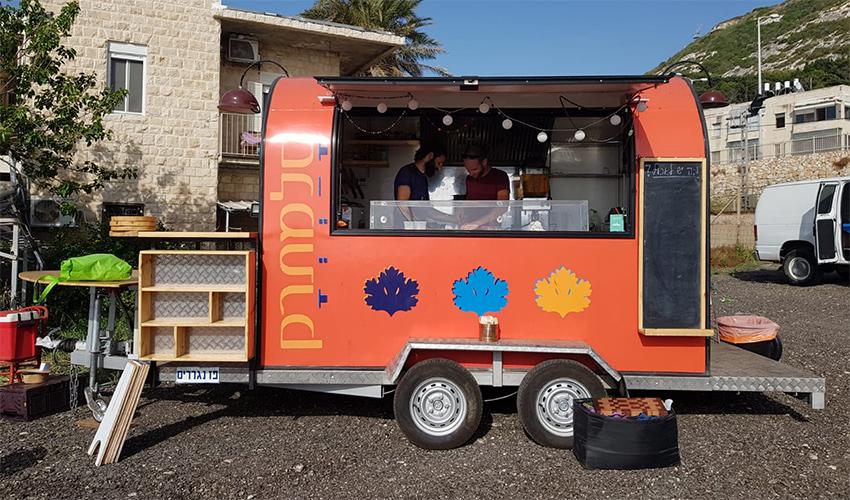 משאית המזון סלמתרק בשקמונה (צילום: סלמתרק)