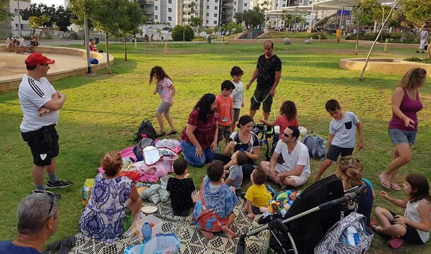 המפגש של הורים וילדים ברמת הנשיא