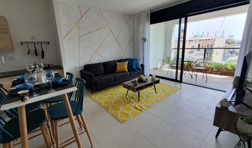 """הדירה לדוגמה בפרויקט """"הרובע"""" (צילום: חברת גולדן ארט)"""