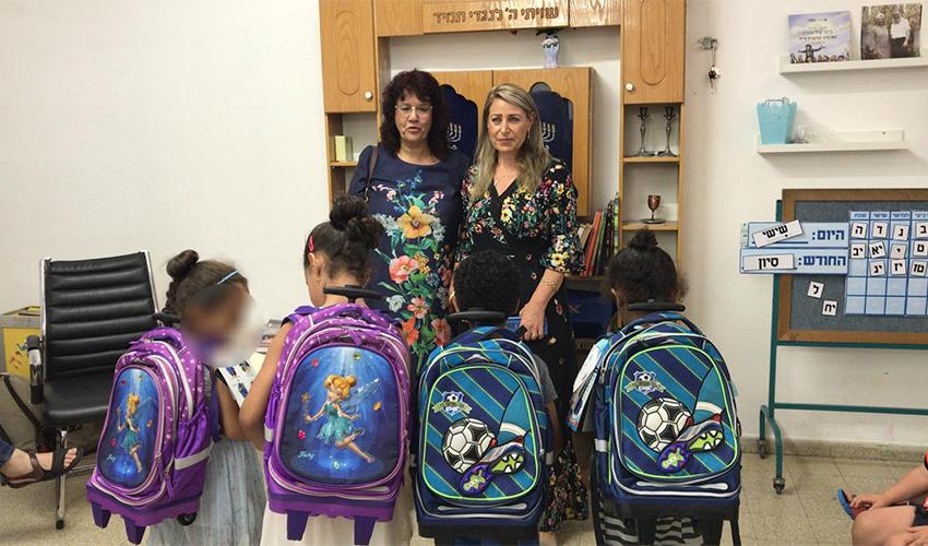 ילדים שהשתתפו בפרויקט ההכנה לכיתה א' (צילום: ברוריה דידי)