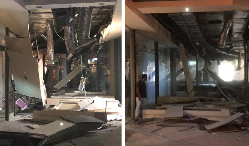 התקרה שקרסה בקניון קסטרא