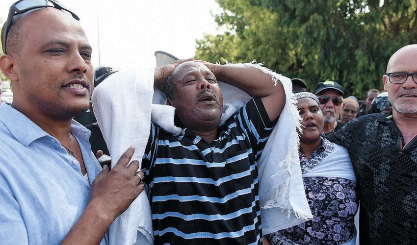 ההפגנה במחאה על מותו של סלומון טקה (צילום: רמי שלוש)