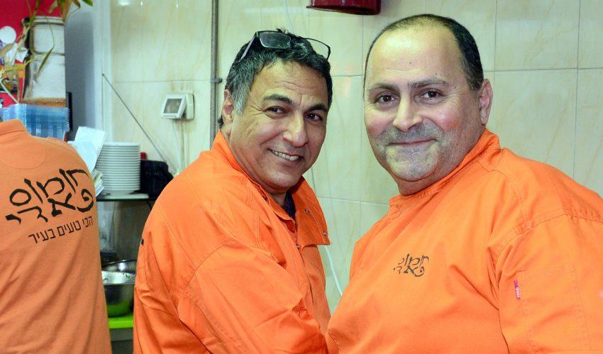 פאדי קרמאן וחיים כהן בפסטיבל א-שאם (צילום: צבי רוגר)