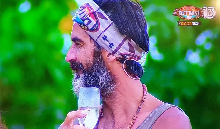 """ג'ובאני רוסו. ווינר גם באי? (צילום מתוך """"הישרדות VIP"""")"""