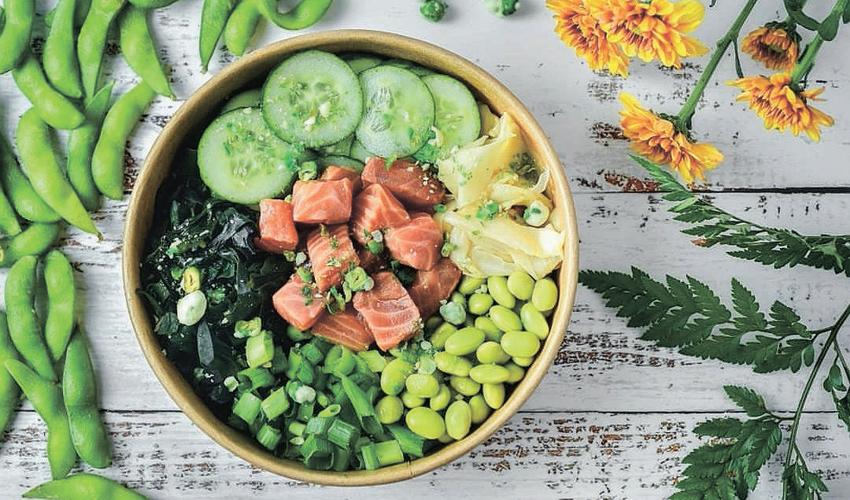פוקה. דג נא, אורז, ירקות ועוד שלל הפתעות (צילום מתוך דף הפייסבוק של אלון מרסיאנו)