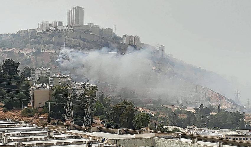 השריפה בצ'ק פוסט (צילום: לסקר את יעקב)
