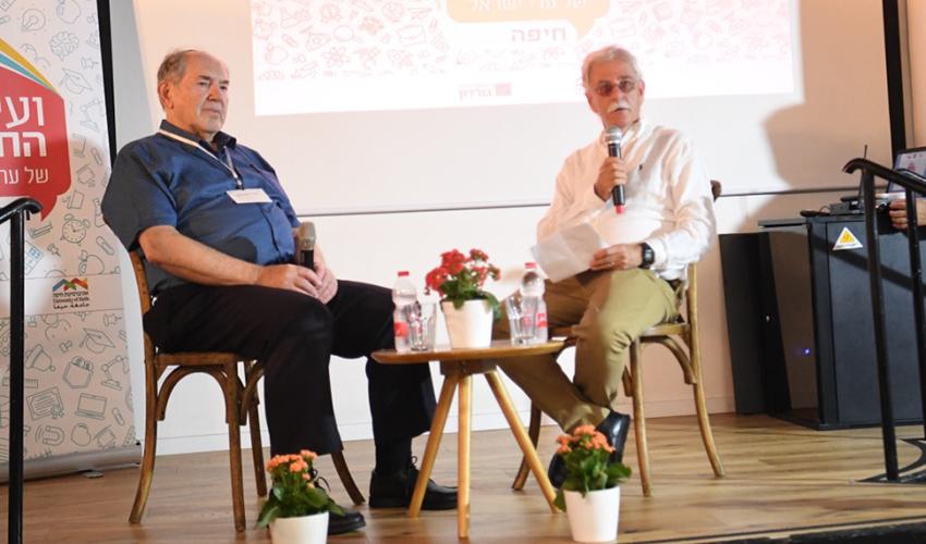 נשיא המכללה האקדמית גורדון פרופ' יחזקאל טלר בוועידת ערי ישראל לחינוך (צילום: ראובן כהן)