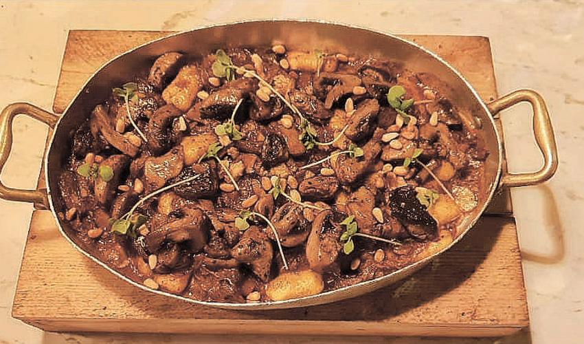 ניוקי בשר ופטריות