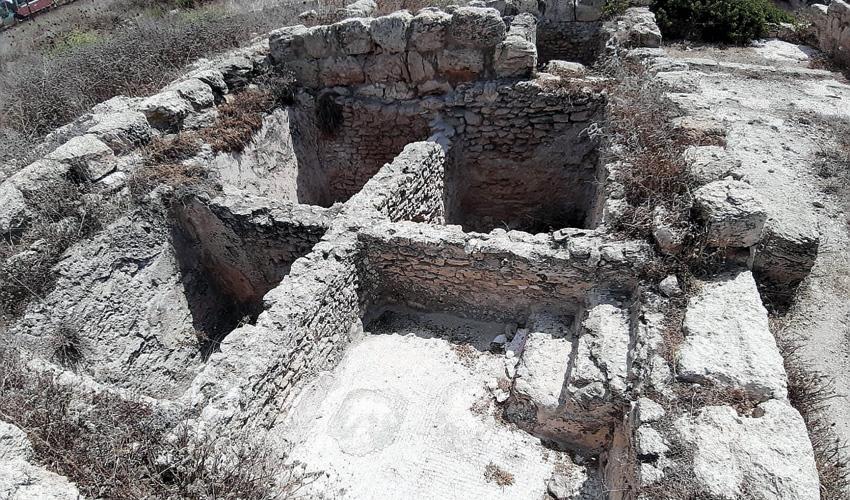 חפירות ארכיאולוגיות למרגלות תל שקמונה (צילום: יוסי מזור)