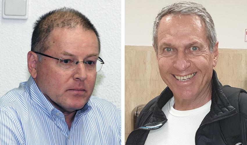 יעקב פינגולד ודוד לוריא. ראש העיר תוזמן לברית? (צילומים: בועז כהן, קובי פאר)