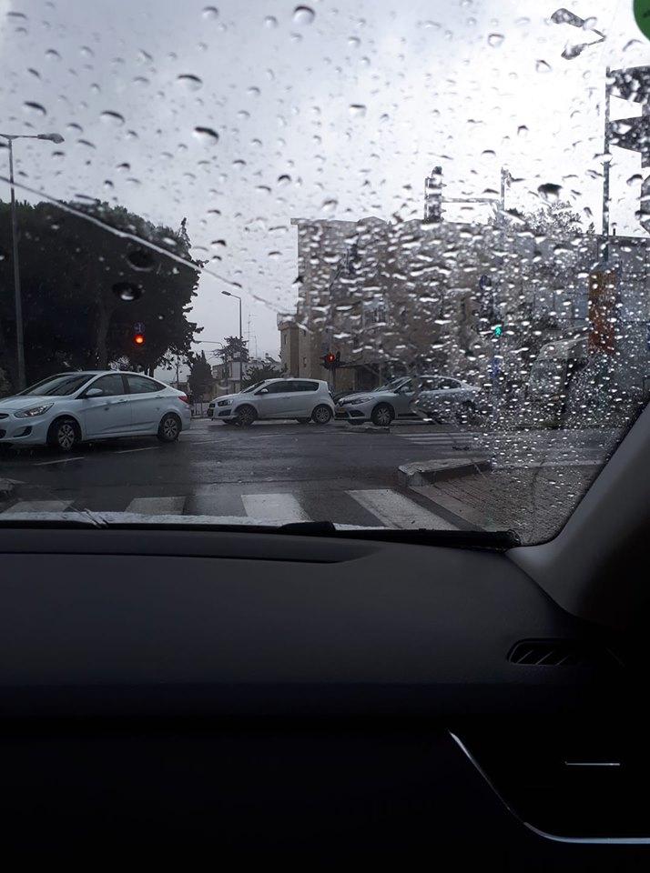 גשם בנוה שאנן (צילום: שלומית בן שחר-עידן)