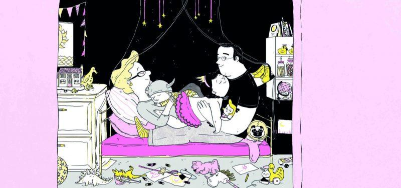 איור לספר סיפור אחרי השינה, מאת שהם סמיט, הוצאת כינרת, 2014, איור דיגיטלי. קרדיט אמן- עינת צרפתי.