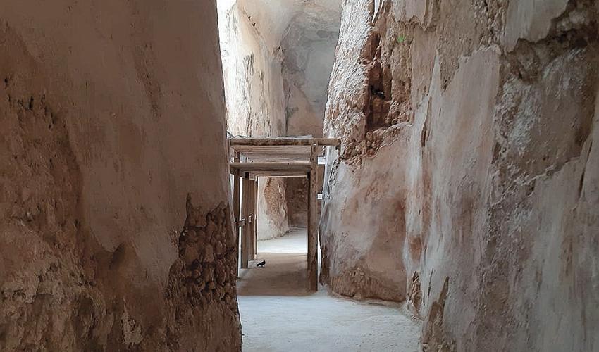 מאגר המים מהתקופה הרומית (צילום:יוסי מזור)