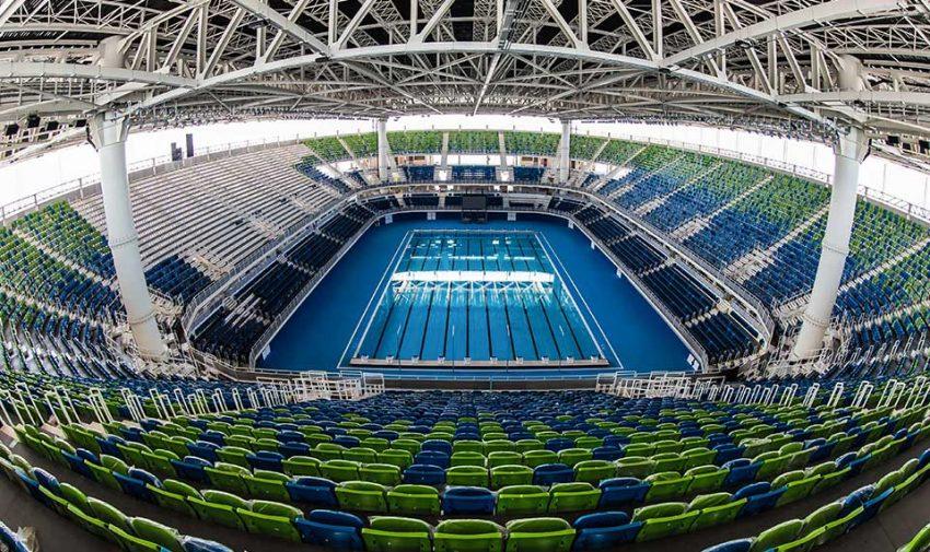 הבריכה האולימפית בריו (צילום מתוך האתר של חברת Myrtha Pools)