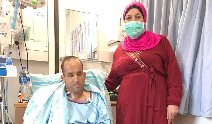 """עאידה וישראל (צילום: דוברות הקריה הרפואית רמב""""ם)"""