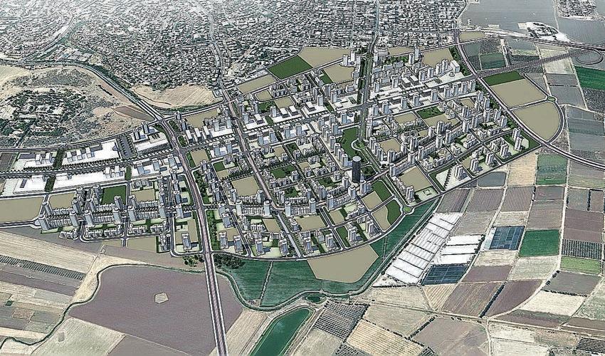 תוכנית הבנייה למרחב קרית אתא (הדמיה: רשות מקרקעי ישראל)