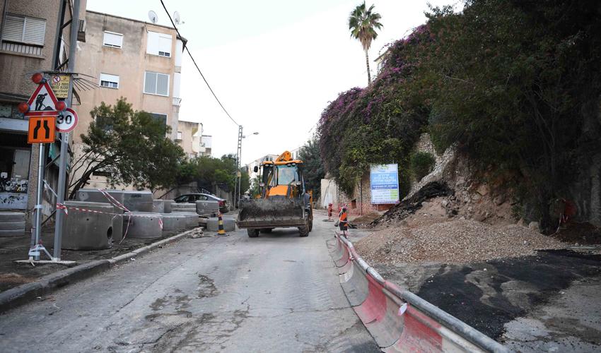 רחוב הס בזמן העבודות (צילום: ראובן כהן)