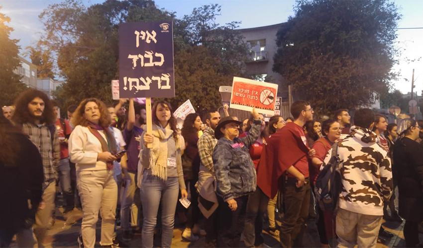 משתתפי מצעד המחאה (צילום: אלה אהרונוב)