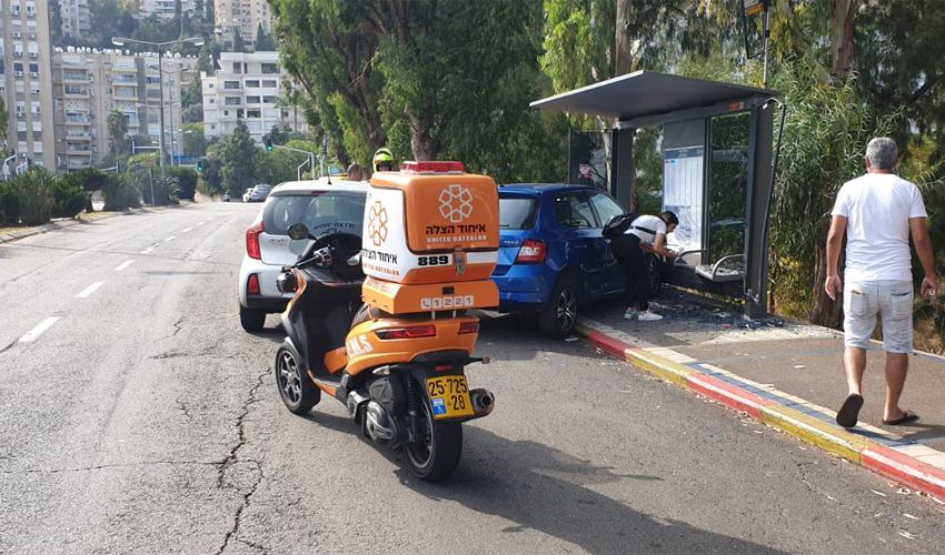 זירת התאונה בשדרות רוטשילד (צילום: איחוד הצלה)