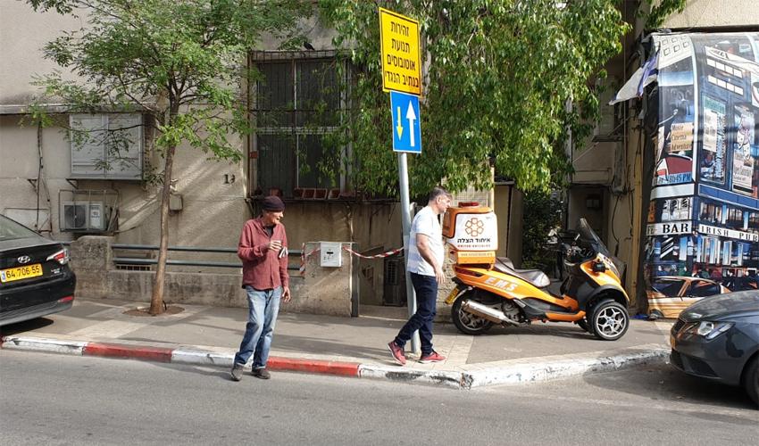 """זירת האירוע ברחוב יל""""ג (צילום: איחוד הצלה)"""