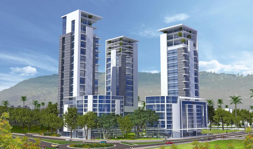 פרויקט הפינוי-בינוי במתחם רחוב חיל הים. 413 דירות במקום 119 דירות שייהרסו (הדמיה: משרד קנפו כלימור אדריכלים)
