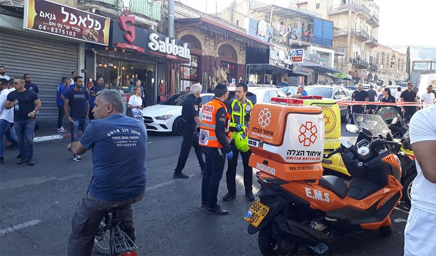 זירת הירי ברחוב אלנבי (צילום: דוברות איחוד הצלה)
