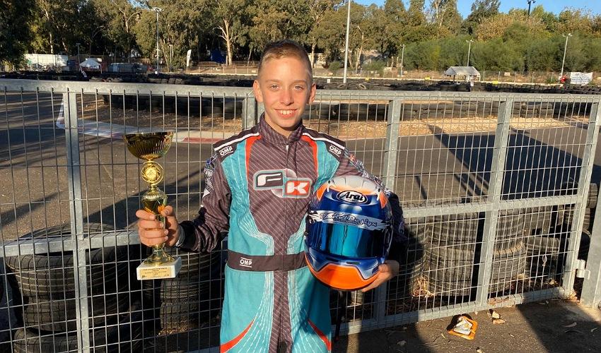 אריאל אלקין מחיפה זכה באליפות ישראל בקרטינג