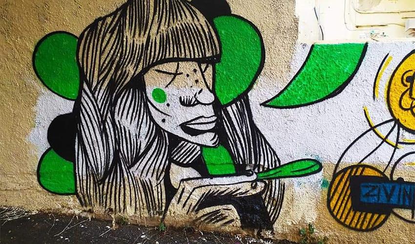 הגרפיטי ברחוב מסדה (צילום: זיו שמח)