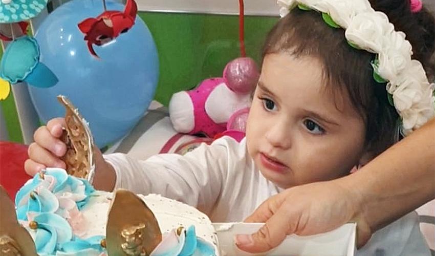 שירי עשת חוגגת יום הולדת בבית החולים רות לילדים (צילום: משפחת עשת)